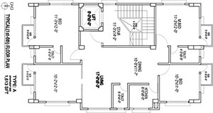 Typical (1st to 6th) Floor Plan